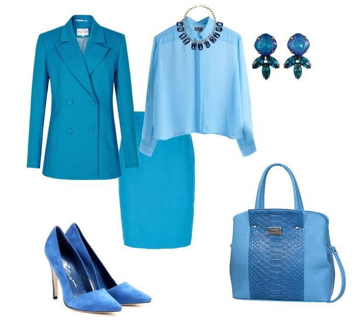 Женская Одежда Голубой Цвет